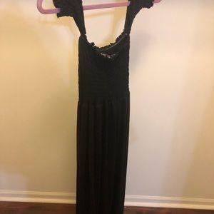 Black off the shoulder long maxi dress